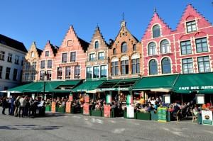 Hotel Cental na náměstí Grote Markt.
