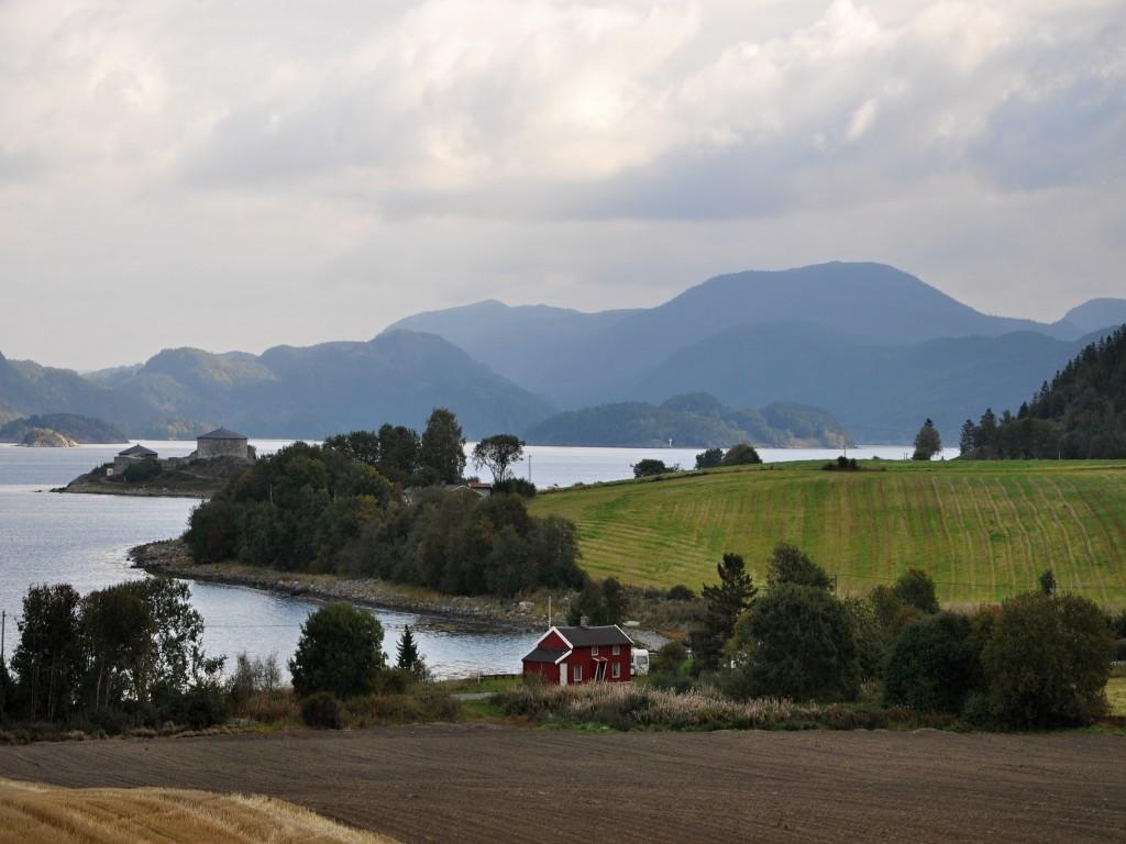 Nádherná krajina Norska.